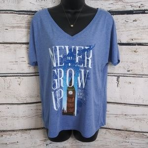 Disney Parks/ Never Grow Up Epcot Tee/ Small
